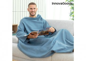 Egy ujjú takaró központi zsebével Faboulazy InnovaGoods - Kék