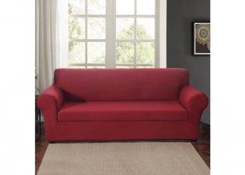 Háromszemélyes kanapévédő huzat - bordó