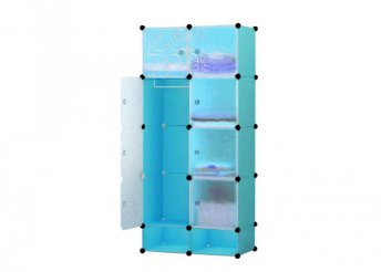 Műanyag elemes szekrény - kék