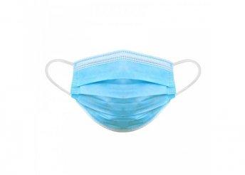 10 db / csomag 3 rétegű -kék- egészségügyi maszk