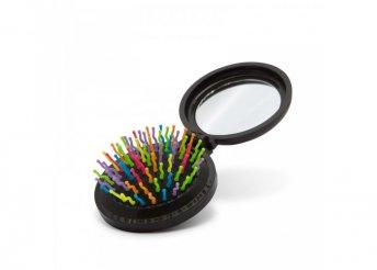 Összecsukható hajkefe tükörrel