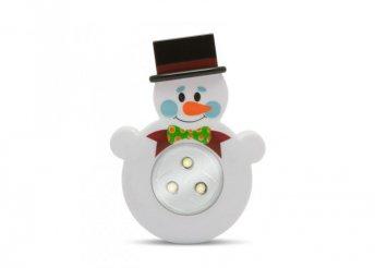 Nyomógombos lámpa - hóember