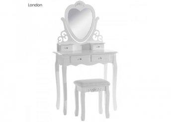 Tükrös fésülködő asztal - London - fehér