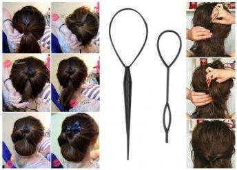 Praktikus frizura készítő két méretben 1 db 19 cm-es és 1 db 14 cm-es