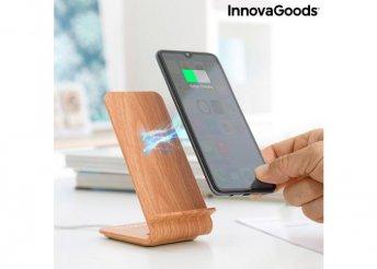Wood Effect vezeték nélküli töltő állvánnyal