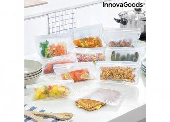Újrafelhasználható élelmiszerzsák készlet (10 darabos)