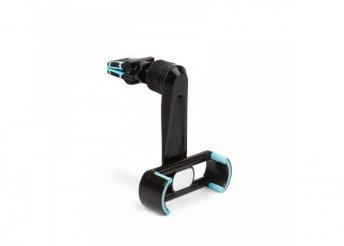 Telefontartó - szellőzőrácsra rögzíthető - fekete