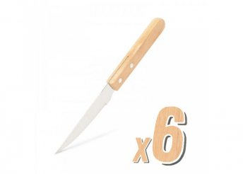Grill kés - 6 db - fa nyéllel