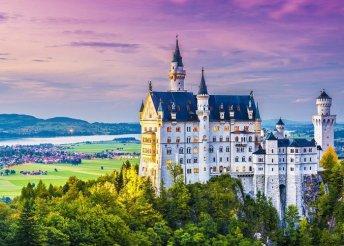 4 napos kirándulás Németországban mesebeli bajor kastélyokhoz, reggelivel, 3*-os szállással, busszal