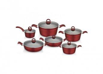 Perfect Home Edényszett aluminium 12 részes piros