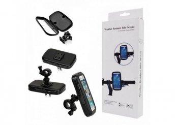 Univerzális biciklis telefontartó - Fekete