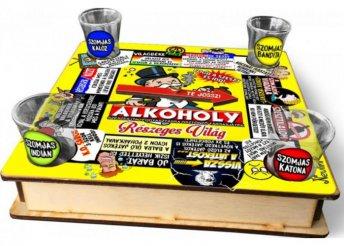 Ivós társasjáték 18 cm x 18 cm - ALKOHOLY