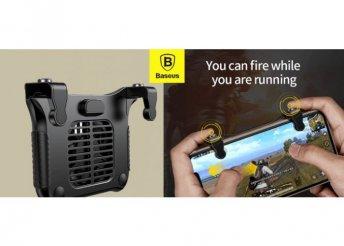 Baseus mobiltelefontartós játékvezérlő, hűtőventilátorral - Fekete