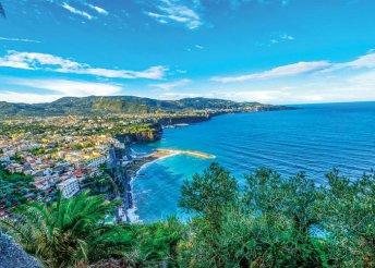 4 napos nyárbúcsúztató körutazás a Sorrentói-félszigeten, repülőjeggyel, félpanzióval, 3*-os szállással