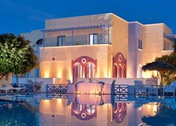 4 vagy 8 napos nyaralás Görögországban, Szantorinin, az Acqua Vatos*** Hotelben