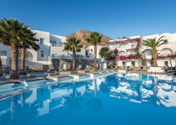 4 vagy 8 napos nyaralás Görögországban, Szantorinin, a Kastelli Resort***** Hotelben