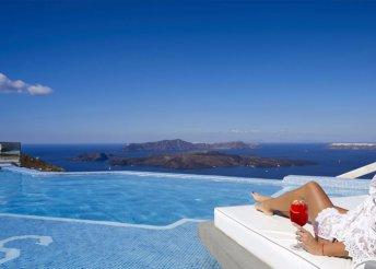 4 vagy 8 napos nyaralás Görögországban, Szantorinin, a Suits Of The Gods Spa***** Hotelben