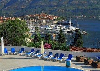 8 napos nyaralás Horvátországban, Dalmáciában, Korcula-szigeten, a Marco Polo**** Hotelben