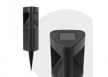 LED-es szolár lámpa - háromszög alakú, fekete, műanyag