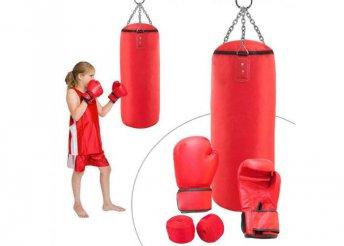 Junior box szett piros 10-es kesztyűvel