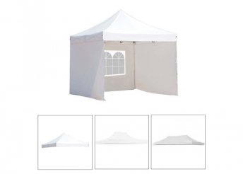 Pavilon ponyva több típusban - fehér - 2,9 x 2,9 m