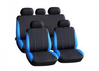 Autós üléshuzat szett - kék / fekete - 9 db-os - HSA001