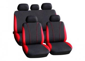 Autós üléshuzat szett - piros / fekete - 9 db-os - HSA002