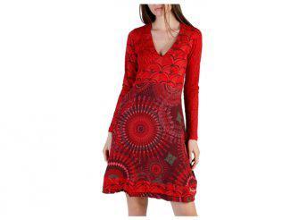 Desigual Dresses 49V2227_3000_ROSSO-BORDEAUX